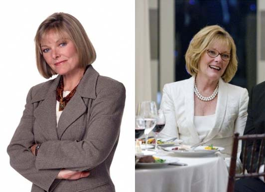 Jane Curtin appears in a promotional photo for the television series, '3rd Rock From The Sun.' / Jane Curtin  appears in a scene from the 2009 movie, 'I Love You, Man.'