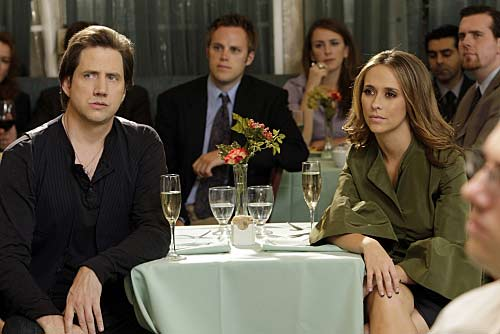 "<div class=""meta ""><span class=""caption-text "">'Ghost Whisperer' costars, Jennifer Love Hewitt and Jamie Kennedy broke up in March 2010 after a year of dating.  The two often praised each other in the media.  Their romance was first confirmed in March 2009. (Photo courtesy of CBS)</span></div>"