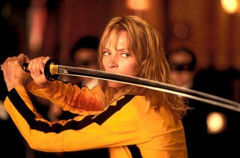 Sally Menke worked as a film editor in Quentin Tarantino&#39;s 2003 and 2004 movies, &#39;Kill Bill: Vol.1&#39; and &#39;Kill Bill: Vol. 2.&#39; In this scene of &#39;Kill Bill: Vol. 1,&#39; actress Uma Thurman is seen wielding a sword. <span class=meta>(Photo courtesy of Miramax Films &#47; A Band Apart &#47; Super Cool ManChu)</span>