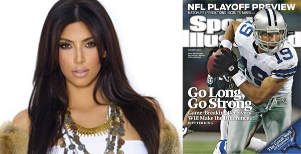 Socialite Kim Kardashian and Dallas Cowboys wide receiver Miles Austin called it quits in September 2010.  The split was mutual and distance was the trigger behind the split.  Kim&#39;s busy schedule also reportedly kept them apart. <span class=meta>(Photos courtesy of twitter.com&#47;kimkardashian and Sports Illustrated)</span>