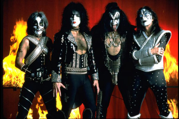 Blood from band members of KISS was mixed with...