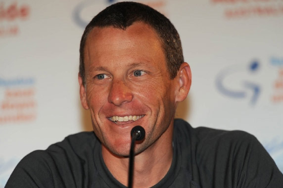Tour de France champion, Lance Armstrong and girlfriend Anna Hansen welcomed their second
