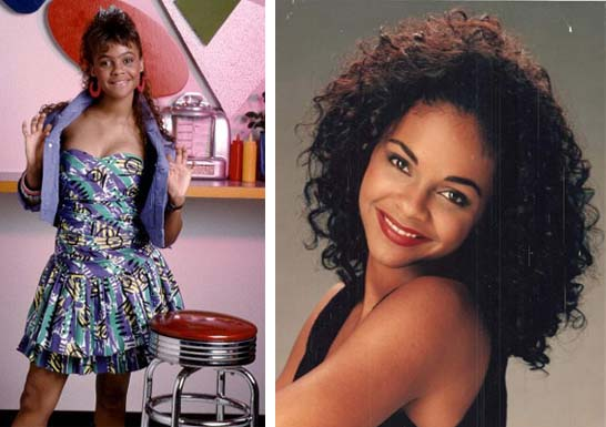 Lark Voorhies in a promotional still for 'Saved by the Bell.'/Lark Voorhies in a personal shot from her MySpace.