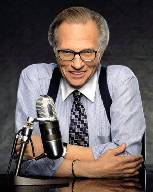 Larry King, the 76-year-old host of CNN&#39;s &#39;Larry King Live&#39; talk show, filed for divorce from his seventh wife, Shawn Southwick King in April 2010, citing irreconcilable differences.  In May 2010 their divorce proceedings were called off after the pair reconciled. The couple married in 1997 and have two children together, Cannon, 9, and Chance, 11. King has been married to seven women and has divorced all of them, including one whom he remarried and divorced again. <span class=meta>(Photo courtesy of CNN)</span>