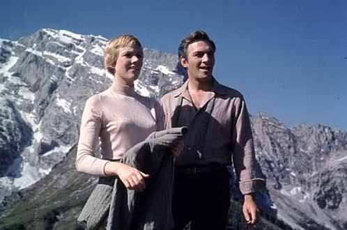 The real Maria Von Trapp has a cameo in 'The Sound of Music'. Christopher Plummer told Oprah Winfrey that Von Trapp told him, 'You are more handsome than my husband.' (Pictured: Julie Andrews and Christopher Plummer in a scene from 'The Sound of Music'.)