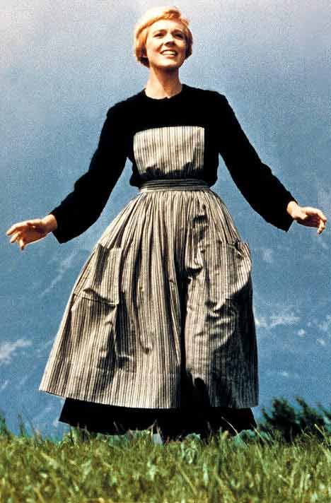"<div class=""meta ""><span class=""caption-text "">Julie Andrews (Maria) was in hair and makeup at 6:30 a.m. every day while filming 'The Sound of Music'. (Twentieth Century Fox Film Corporation / Robert Wise Productions)</span></div>"