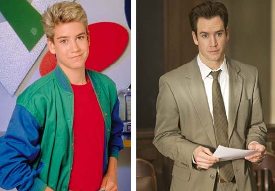 Mark-Paul Gosselaar in a promotional still for 'Saved by the Bell.'/Mark-Paul Gosselaar in a scene from 'Raising the Bar.'
