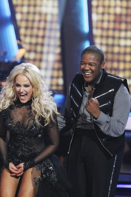 Kyle Massey and Lacey Schwimmer performed a Paso Doble on &#39;Dancing With the Stars,&#39; Monday, Nov. 1, 2010. The judges gave the couple 35 out of 40 for individual and 24 points for winning dance marathon for a total 59 out of 70. <span class=meta>(KABC Photo)</span>