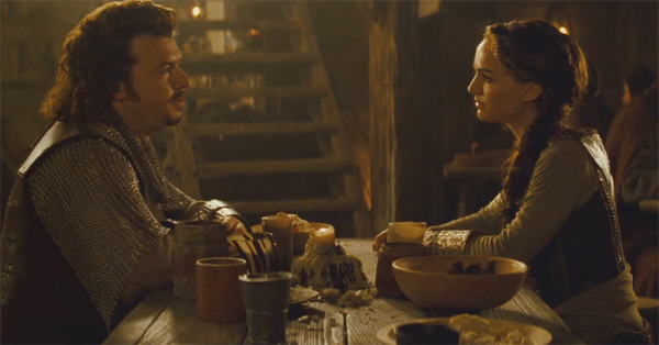 "<div class=""meta ""><span class=""caption-text "">Natalie Portman as the warrior Isabel and Danny McBride as Prince Thadeous in the 2011 fantasy comedy movie, 'Your Highness.' (Universal Pictures)</span></div>"