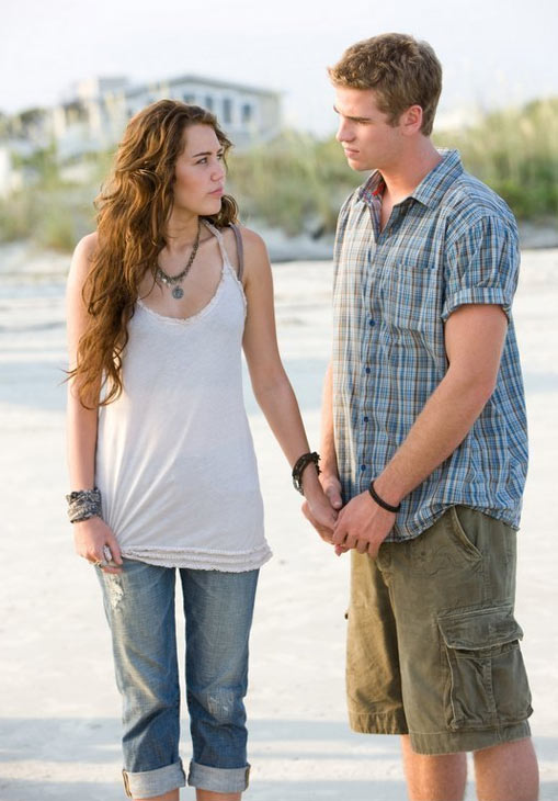 "<div class=""meta image-caption""><div class=""origin-logo origin-image ""><span></span></div><span class=""caption-text"">Miley Cyrus and her 'Last Song' co-star Liam Hemsworth began dating in June 2009 while filming her first movie, 'The Last Song.' They have broken up several times. As of September 2011, they are still together. (Touchstone Pictures)</span></div>"