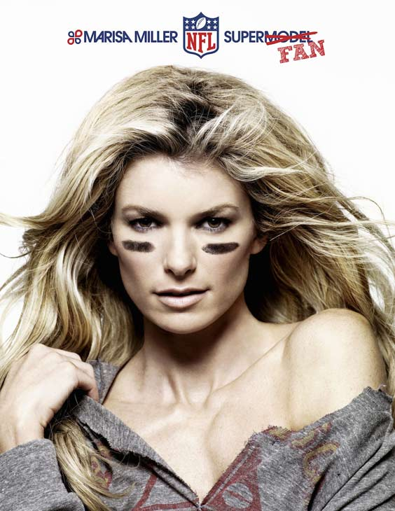 "<div class=""meta image-caption""><div class=""origin-logo origin-image ""><span></span></div><span class=""caption-text"">Marisa Miller appears in a print ad for the NFL. (marisamiller.com/blog / National Football League)</span></div>"