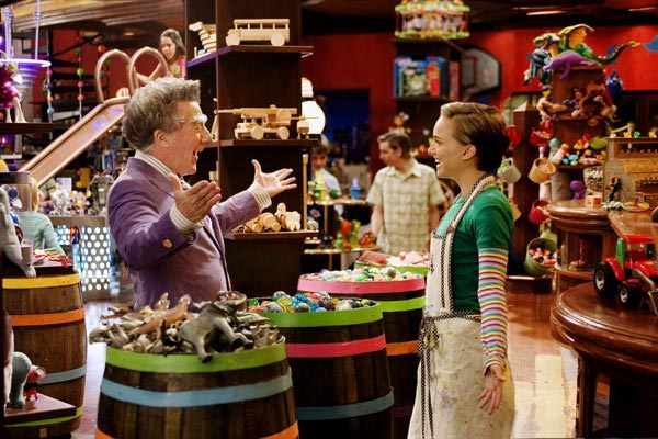 While filming &#39;Mr. Magorium&#39;s Wonder Emporium,&#39; Natalie met a five year old child who was diagnosed with Bloom syndrome, a genetic disorder that can cause disabilities and has a high risk of cancer.  Natalie was so touched that she arranged for a fashion auction benefitting research for a cure. Pictured: Dustin Hoffman and Natalie Portman in a scene from &#39;Mr. Magorium&#39;s Wonder Emporium.&#39; <span class=meta>(Photo courtesy of Film Colony)</span>