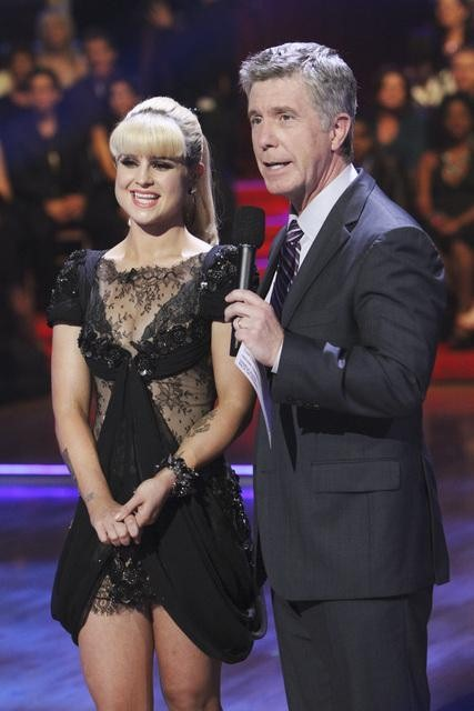 Former contestant Kelly Osbourne and show co-host Tom Bergeron appear on 'Dancing With the Stars,' Monday, Nov. 1, 2010.