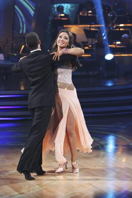 Bristol Palin and Mark Ballas perform to the 'Monkees' theme on 'Dancing With the Stars,' Monday, Oct. 18, 2010. The judges gave the couple 18 points out of 30.