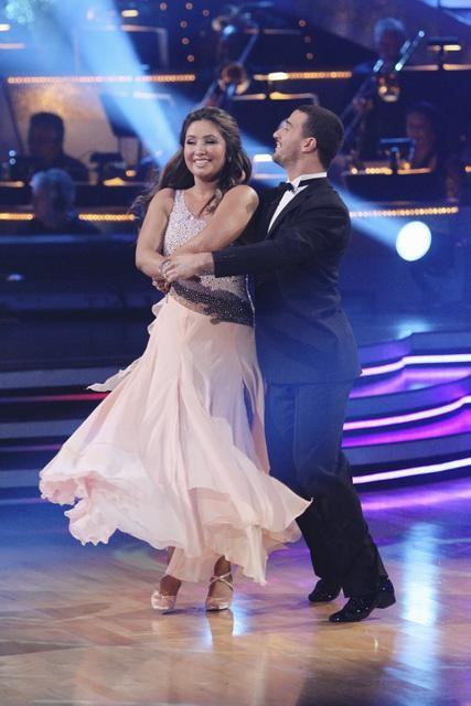 Bristol Palin and Mark Ballas perform on &#39;Dancing With the Stars,&#39; Monday, Nov. 1, 2010. The judges gave the couple 33 out of 40 for individual and 24 points for winning dance marathon for a total 57 out of 70. <span class=meta>(KABC Photo)</span>