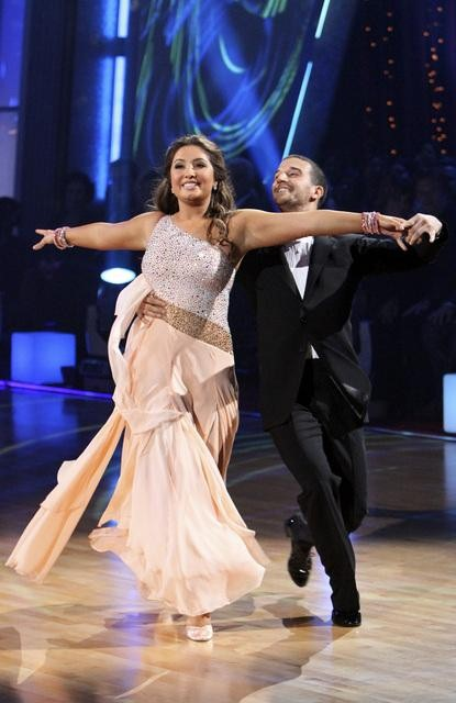 Bristol Palin and Mark Ballas perform to the &#39;Monkees&#39; theme on &#39;Dancing With the Stars,&#39; Monday, Oct. 18, 2010. The judges gave the couple 18 points out of 30. <span class=meta>(ABC Photo&#47;Adam Larkey)</span>