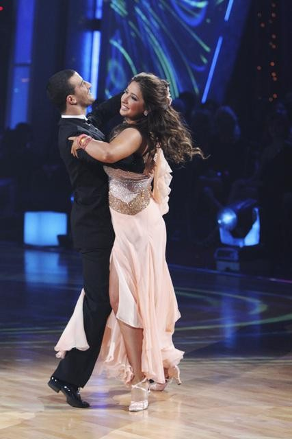 "<div class=""meta image-caption""><div class=""origin-logo origin-image ""><span></span></div><span class=""caption-text"">Bristol Palin and Mark Ballas perform on 'Dancing With the Stars,' Monday, Nov. 1, 2010. The judges gave the couple 33 out of 40 for individual and 24 points for winning dance marathon for a total 57 out of 70. (KABC Photo)</span></div>"