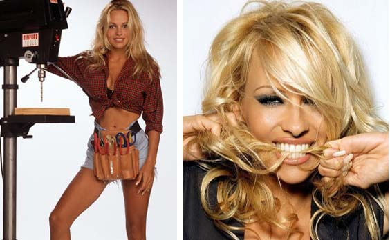 Pamela Anderson appears in a promotional photo...