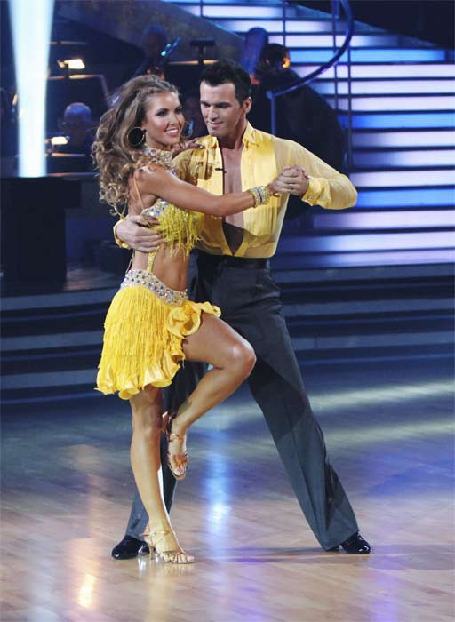 Audrina Patridge and Tony Dovolani perform on 'Dancing With the Stars,' Monday, Sept.  20, 2010. The judges gave the couple 19 points out of 30.