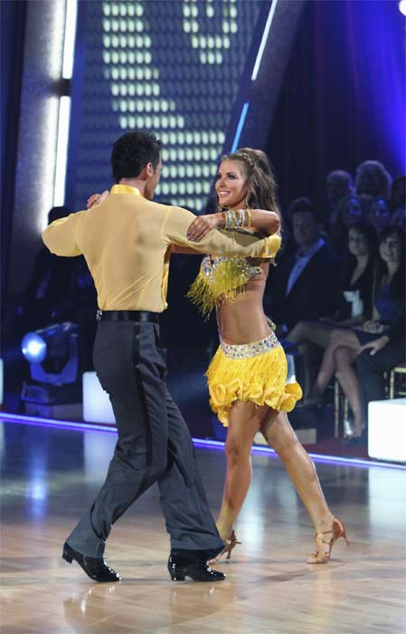 "<div class=""meta ""><span class=""caption-text "">Audrina Patridge and Tony Dovolani perform on 'Dancing With the Stars,' Monday, Sept.  20, 2010. The judges gave the couple 19 points out of 30. (ABC Photo/ Adam Larkey)</span></div>"