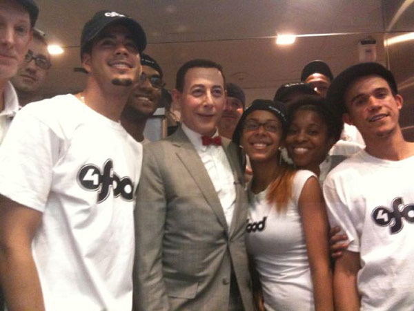 Pee-wee Herman visited 4Food, a custom burger...