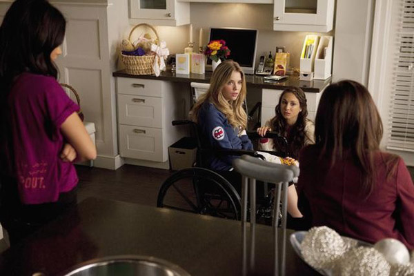 Lucy Hale &#40;Aria&#41;, Shay Mitchel &#40;Emily&#41;, Troian Bellisario &#40;Spencer&#41; and Ashley Benson &#40;Hanna&#41; appear in the &#39;Pretty Litle Liars&#39; episode &#39;Salt Meets Wound,&#39; which airs on Jan. 10, 2011 at 8 p.m. ET on ABC Family. During the episode, surprises unsettle the Liars as &#39;A&#39; continues the game. <span class=meta>(ABC Family &#47; Adam Rose)</span>