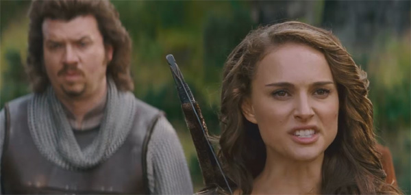 Natalie Portman as the warrior Isabel and Danny...