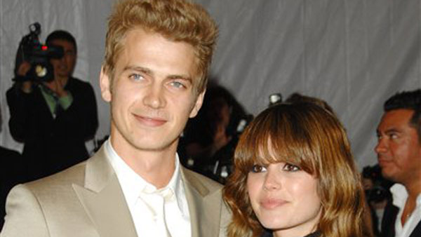 Actors Rachel Bilson and Hayden Christensen...