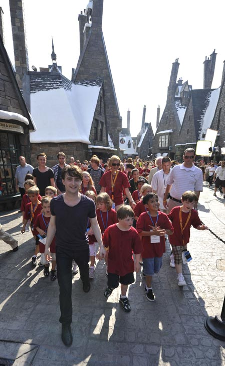 The Wizarding World of Harry Potter at Universal Orlando Resort celebrates its official public grand opening on June 18 with help from Harry Potter film actors Tom Felton, Rupert Grint, Michael Gambon, Bonnie Wright, Daniel Radcliffe, James and Oliver Phelps and thousands of excited fans ? officially becoming the only place in the world where the adventures of Harry Potter come to life.  <span class=meta>(Photo courtesy of Universal Orlando Resort)</span>