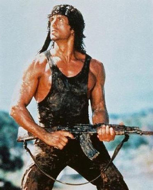 "<div class=""meta ""><span class=""caption-text "">Sylvester Stallone starred in a porn film. FACT: Sylvester Stallone did have a lead role in a porn movie in 1970 called 'Part at Kitty and Stud's.'  Stallone later told Playboy magazine that received $200 for his role. Pictured: Sylvester Stalone in a scene from 'Rambo: First Blood.'  (Photo courtesy of Live / Artisan)</span></div>"