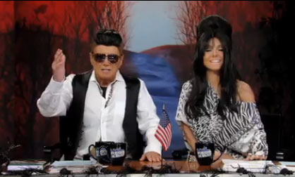 Regis Philbin and Kelly Ripa dressed up as Mike &#39;The Situation&#39; Sorrentino and Nicole &#39;Snooki&#39; Polizzi from the MTV reality series &#39;Jersey Shore&#39; on their talk show, &#39;Live with Regis and Kelly&#39; on Oct. 29, 2010 ahead of Halloween. <span class=meta>(ABC)</span>