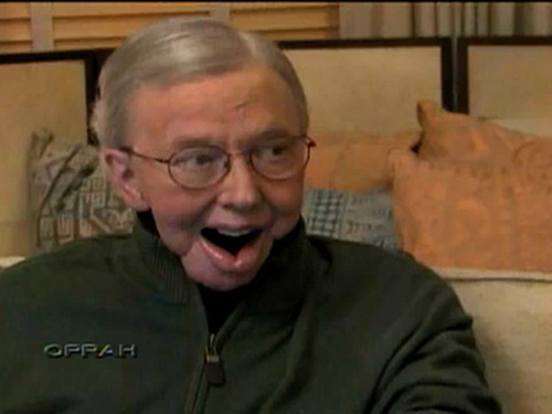 Roger Ebert appears in a still from his 'Oprah...