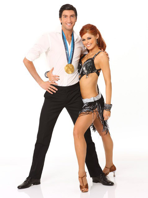 Evan Lysacek and Anna Trebunskaya took second place in season 10.  Lysacek is a World Champion figure skater and in 2010 he was named as an Olympic Champion.   <span class=meta>(Photo courtesy of ABC)</span>