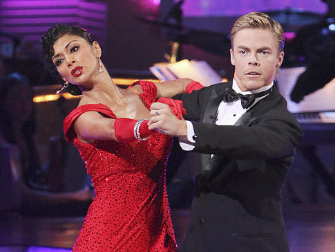"<div class=""meta image-caption""><div class=""origin-logo origin-image ""><span></span></div><span class=""caption-text"">Nicole Scherzinger and Derek Hough were crowned the season 10 champions of 'Dancing with the Stars' in the spring of 2010.  Scherzinger was a member of the 'Pussycat Dolls,' but left the group to work on her solo album.  She has an upcoming cameo role in the 'Men in Black 3' movie. (Photo courtesy of ABC)</span></div>"