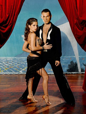 "<div class=""meta image-caption""><div class=""origin-logo origin-image ""><span></span></div><span class=""caption-text"">The couple that started it all in the summer of 2005, season 1 winners, Kelly Monaco and Alec Mazo.  Monaco was a 'Playboy' model throughout the 1990s and had a role on 'Baywatch' from 1997 to 1998.  She also acted on the soap operas, 'Port Charles' and 'General Hospital.' (Photo courtesy of ABC)</span></div>"