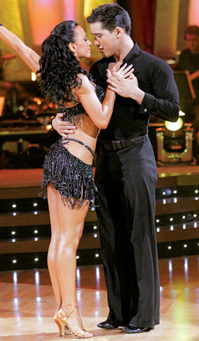 "<div class=""meta ""><span class=""caption-text "">The season 3 second place winners were Mario Lopez and Karina Smirnoff.  Lopez is best known for his role as the macho A.C. Slater on 'Saved by the Bell' and as an 'Extra TV' host.  Lopez and Smirnoff began dating in 2006 and moved in together.  They called it quits two years later in 2008.  In September 2010, Lopez and his current girlfriend Courtney Mazza welcomed their first child, Gia Francesca Lopez. (Photo courtesy of ABC)</span></div>"