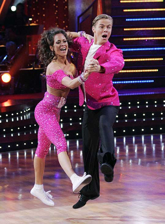 "<div class=""meta ""><span class=""caption-text "">Brooke Burke and Derek Hough were named as the first place winners of season 7 in the fall of 2008.  Burke is the host of TV Land's reality show, 'She's Got the Look' and the author of 'Naked Mom.'  In the tenth season of 'Dancing with the Stars' Burke was chosen to become a co-host opposite Tom Bergeron. (Photo courtesy of ABC)</span></div>"