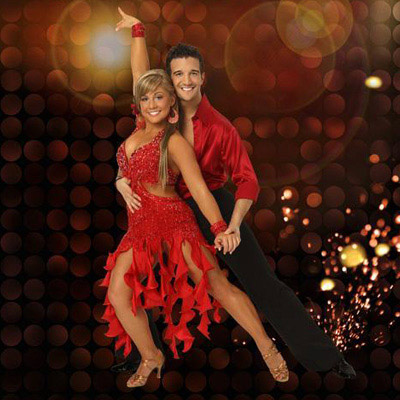 Season 8 winners Shawn Johnson and Mark Ballas...