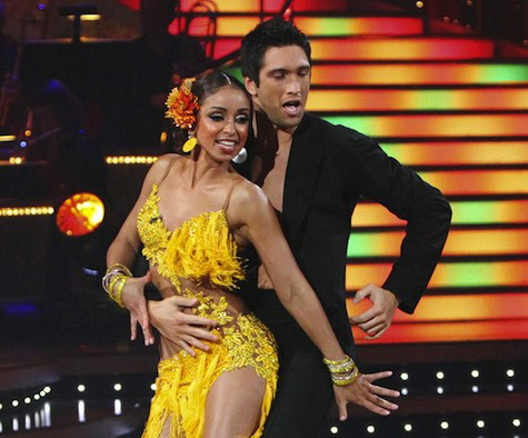 Mya and Dmitry Chaplin took second place in season 9.  Mya is a Grammy Award Winning Artist.  She is a respected singer, songwriter, producer, dancer&#47;choreographer, actress, designer, model, activist and philanthropist. <span class=meta>(Photo courtesy of ABC)</span>