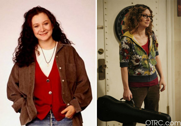 Sara Gilbert was best known for her role as the dark and cynical Darlene Conner, Roseanne&#39;s younger daughter, on &#39;Roseanne.&#39;  After the show ended in 1997, Gilbert appeared in movies such as &#39;The Big Tease,&#39; &#39;Riding in Cars with Boys&#39; and &#39;Laws of Attraction.&#39;7988533 She has also had parts on shows such as&#39;24,&#39; &#39;Will &amp; Grace,&#39; &#39;ER&#39; and &#39;Greys Anatomy.&#39; Gilbert played Leslie Winkle on the CBS sitcom &#39;The Big Bang Theory,&#39; starting in 2007. Cast member Johnny Galecki played Conner&#39;s love interest, David, on &#39;Roseanne.&#39; 7988533 In 2010, Gilbert, Julie Chen, Sharon Osbourne, Leah Remini, Holly Robinson Peete and Marissa Jaret Winokur began hosting the CBS talk show, &#39;The Talk.&#39; Gilbert confirmed that she is a lesbian at a 2010 Television Critics Association press event promoting &#39;The Talk.&#39; Her partner, Allison Adler, gave birth to the couple&#39;s son, Levi Hank, in October 2004 and Gilbert gave birth to their daughter, Sawyer, in August 2007. In August 2011, it was announced the couple had split. She later began dating Linda Perry of 4 Non Blondes. They wed on March 30, 2014. <span class=meta>(Paramount Television and Warner Bros. Television)</span>