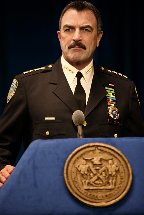 "<div class=""meta ""><span class=""caption-text "">Friday, Jan. 7, 2011: 'Blue Bloods' - Tom Selleck plays the New York Police Chief in this cop drama series, which continues its debut season on CBS at 10 p.m. ET. (CBS)</span></div>"