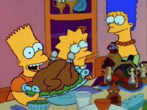 "<div class=""meta image-caption""><div class=""origin-logo origin-image ""><span></span></div><span class=""caption-text"">'The Simpsons' - 'Bart v. Thanksgiving': In this episode, Bart accidentally destroys Lisa's Thanksgiving centerpiece celebrating women throughout history.  He is sent to his room, where he escapes and runs to the bad part of Springfield, where he sells his blood and receives food from a homeless shelter. (Photo courtesy of 20th Century Fox Television)</span></div>"