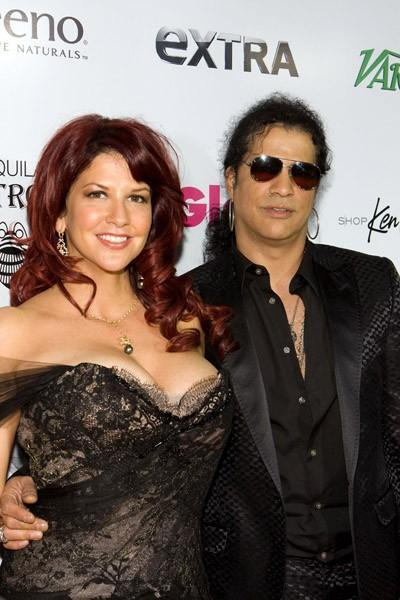 Former Guns n' Roses guitarist, Slash and wife,...