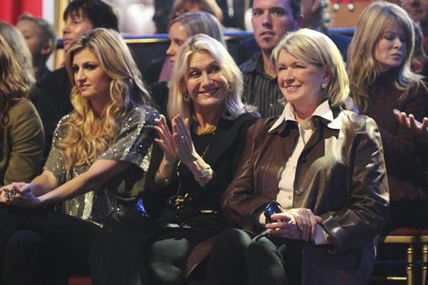 Martha Stewart and former contestant Erin Andrews of ESPN attend a taping of &#39;Dancing With the Stars,&#39; Monday, Oct. 25, 2010. <span class=meta>(ABC Photo&#47;Adam Larkey)</span>