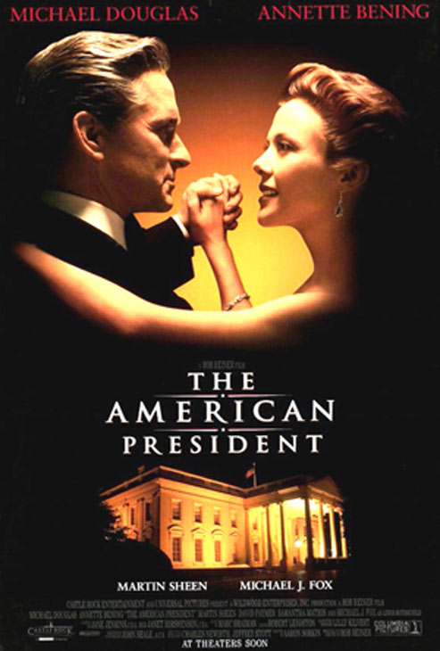 'The American President' (1995): Michael Douglas and Annette Bening play a widowed US president and a lobbyist who fall in love.