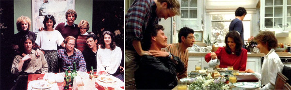 &#39;The Big Chill&#39; &#40;1983&#41;.  In this film, a group of seven radical college friends gather for a reunion after the tragic death of their friend.  The friends spend a weekend together playing football, cooking an elaborate meal and dancing.  With an all-star cast of Tom Berenger, Glenn Close, Jeff Goldblum, William Hurt and Kevin Kline, this film is a must see. <span class=meta>(Photo courtesy of Columbia Pictures Corporation)</span>
