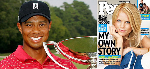 Tiger Woods and Elin Nordegren finalized their divorce in August 2010 following a sex scandal that had tarnished the golf champion&#39;s image and had threatened his career.  Woods, 34, earlier this year apologized publicly about his infidelity and has undergone therapy.  The couple will share custody of their two children, Sam Alexis, 3, and Charlie Axel, 1.  <span class=meta>(Photo courtesy of PGATOUR.com and People magazine)</span>