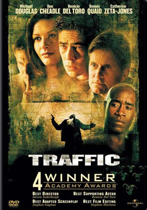 'Traffic' (2000): As a conservative judge, Michael Douglas' character is selected by the President to front the war against drugs, only to find out that his daughter is an addict.