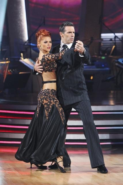 Kurt Warner and Anna Trebunskaya perform on 'Dancing With the Stars,' Monday, Nov. 1, 2010. The judges gave the couple 34 out of 40 for individual and 27 points for winning dance marathon for a total 61 out of 70.