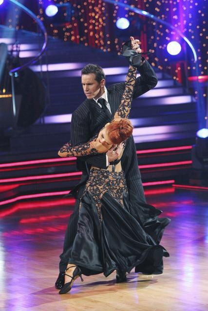"<div class=""meta ""><span class=""caption-text "">Kurt Warner and Anna Trebunskaya perform on 'Dancing With the Stars,' Monday, Nov. 1, 2010. The judges gave the couple 34 out of 40 for individual and 27 points for winning dance marathon for a total 61 out of 70. (KABC Photo)</span></div>"